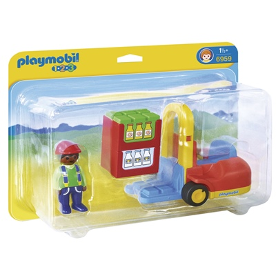 Playmobil 1-2-3 Gaffeltruck, 6959