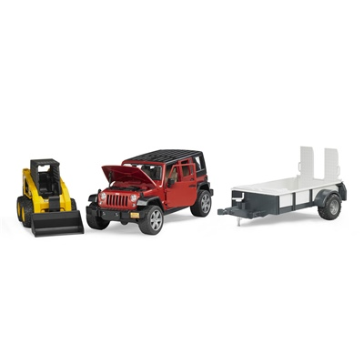 Bruder Jeep Wrangler Unlimited Rubicon + Caterpillar 1:16, 02925