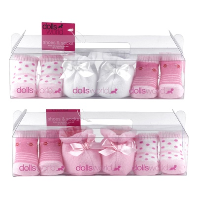 Dolls World Strumpor & Skor till Docka 3-Par, 8712