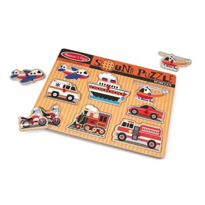Melissa & Doug Vehicles Sound Puzzle, 10725