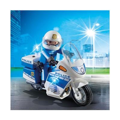 Playmobil Polismotorcykel med LED-ljus, 6923
