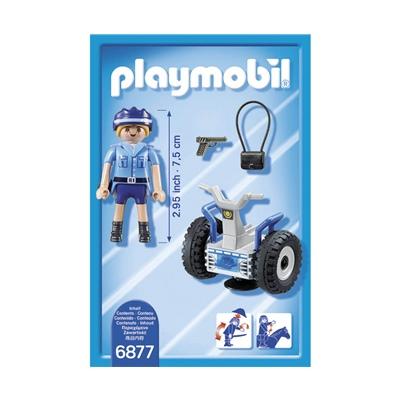 Playmobil Poliskvinna med Balans Fordon, 6877