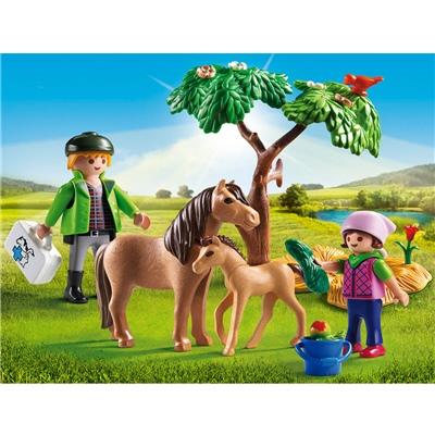 Playmobil Veterinär med Ponny och Föl, 6949