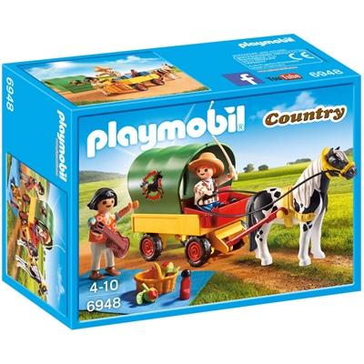 playmobil häst och vagn