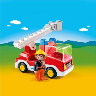 Playmobil 1-2-3 Brandbil med Stege, 6967