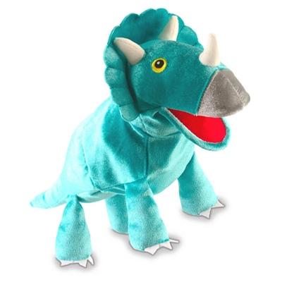 Fiesta Crafts Triceratops Dinosaurie Handdocka m Rörlig Mun, T-2762