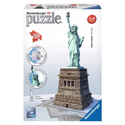 Ravensburger 3D Pussel 108 Bitar Statue of Liberty, 125845