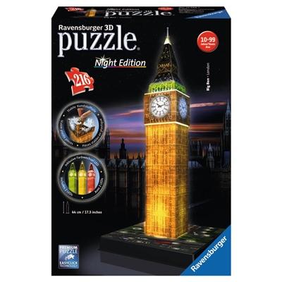 Ravensburger 3D Pussel 216 Bitar Night Edition Big Ben, 125883