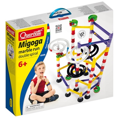 Quercetti Migoga Marble Run Double Spiral, 6568