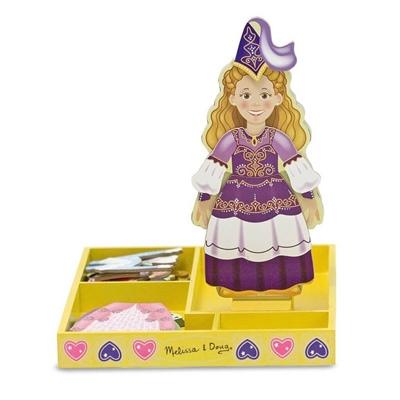 Melissa & Doug Magnetic Wooden Dress-Up Doll Princess Elise, 13553