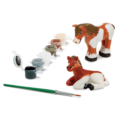 Melissa & Doug Decorate-Your-Own Horse Figurines, 18867