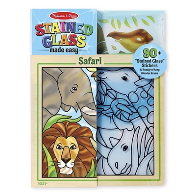 Melissa & Doug Stained Glass Made Easy Safari, 19436