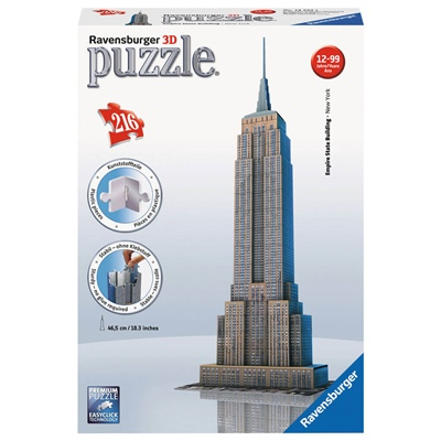 Ravensburger 3D Pussel 216 Bitar Empire State Building, 125531