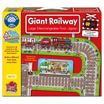 Orchard Toys Pussel 26 Bitar Giant Railway, 289OT