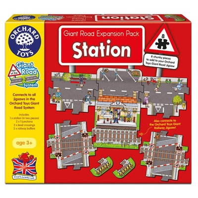 Orchard Toys Pussel 8 Bitar Giant Road Expansion Pack Statio, 320OT