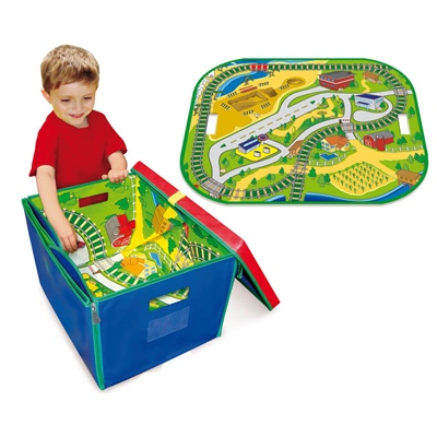 Neat-Oh Full Throttle Road & Rail Toy Box, A1585XX
