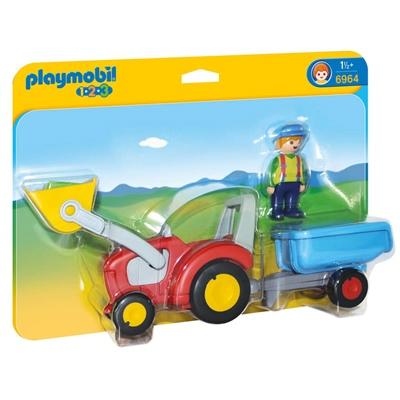 Playmobil 1-2-3 Bonde med Traktor och Släp, 6964
