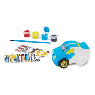 Melissa & Doug Decorate-Your-Own Race Car Bank, 18863