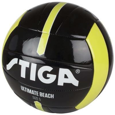 Stiga Fotboll Ultimate Beach Ball Stl 5 Svart/Lime, 84-2718-04