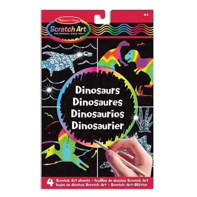 Melissa & Doug Scratch Art Dinosaurs, 15917
