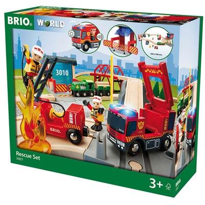 BRIO Tågset med Räddningstema, 33817