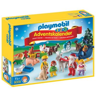 Playmobil 1-2-3 Adventskalender Jul på Bondgården, 9009