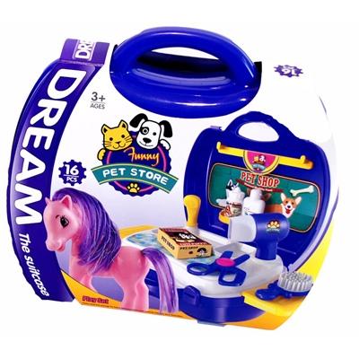 Dream the Suitcase Funny Pet Store Ponnyset i Väska, 2469