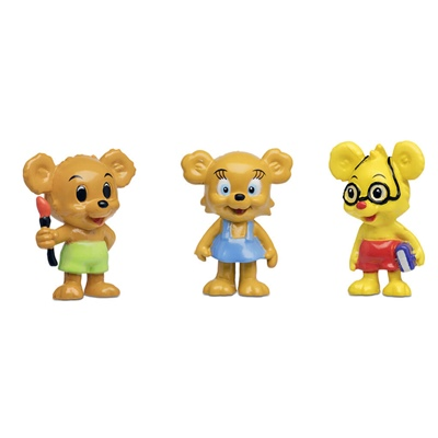Micki Bamse Figurset Nalle-Maja, Brum & Teddy, 64.0014