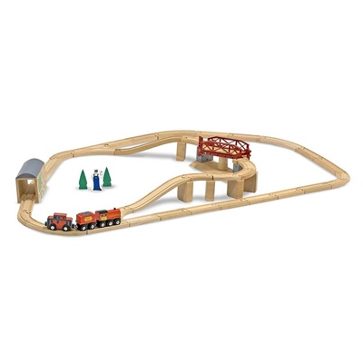 Melissa & Doug Swivel Bridge Train Set, 10704