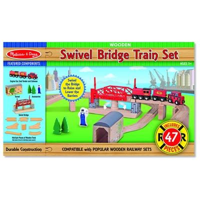 Melissa & Doug Swivel Bridge Train Set, 10704