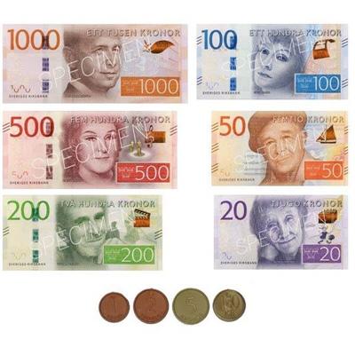 Svenska Leksakspengar Nya Mynt & Nya Sedlar, 10993
