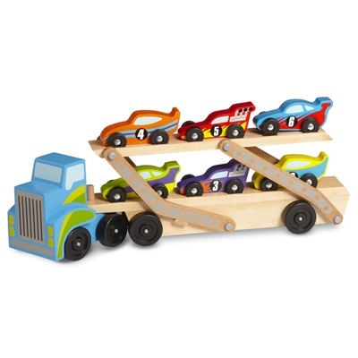 Melissa & Doug Mega Race-Car Carrier 46 cm, 12759