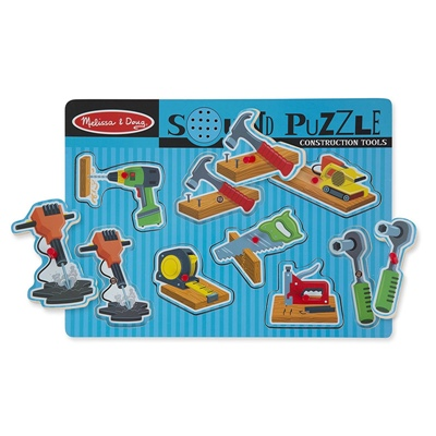 Melissa & Doug Construction Tools Sound Puzzle, 10733MD