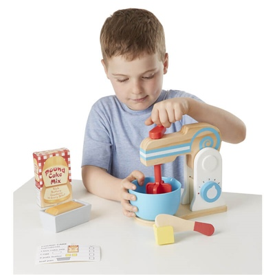 Melissa & Doug Wooden Make-A-Cake Mixer Set, 19840