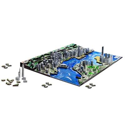 4D Cityscapes Time Puzzle Hong Kong Kina 1100 Bitar, 40026
