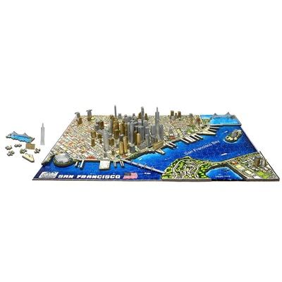 4D Cityscapes Time Puzzle San Francisco USA 1000 Bitar, 40044
