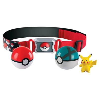 Tomy Pokémon Clip N Carry Poké Ball Belt Pikachu, T18889