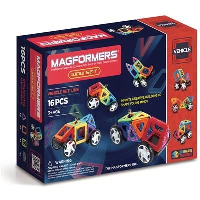 Magformers WOW Set 16 Delar Vehicle, 707004