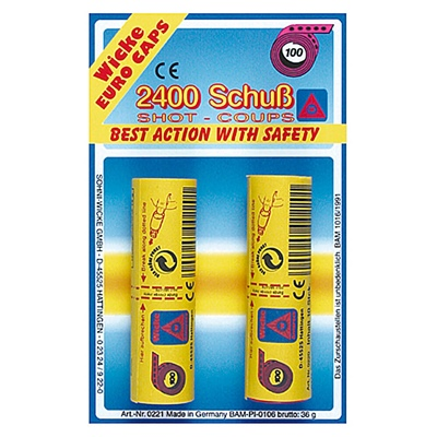 Wicke Knallpulver Remsor 100-Skotts 24-Pack, 0221