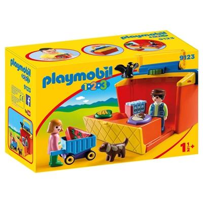Playmobil 1-2-3 Take Along Marknadsstånd, 9123