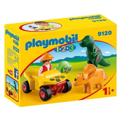 Playmobil 1-2-3 Upptäckare med Dinosaurier, 9120