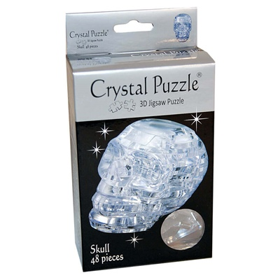 Crystal Puzzle 3D Pussel 48 Bitar Skull, 28143