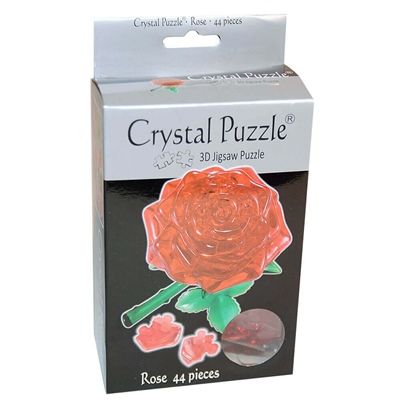 Crystal Puzzle 3D Pussel 44 Bitar Red Rose, 28468