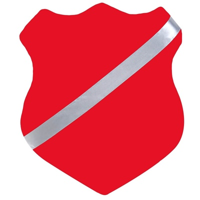 Märkessköld 25 cm Röd, 26103