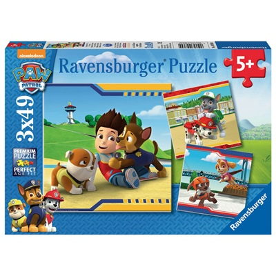 Ravensburger Pussel 3x49 Bitar Paw Patrol Heroes with Coat, 093694