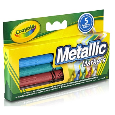 Crayola Metallic Markers 5-Pack, 60018C