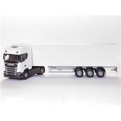 Emek Scania CS Box Van Semitrailer Vit 1:25, 86002