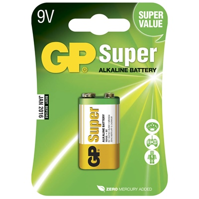 GP Super Alkaline 9V Batteri, 1604A-U1