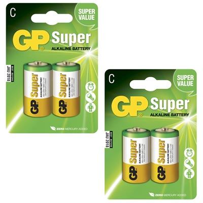GP Super Alkaline C Batteri 4-Pack, 14A-U2X2