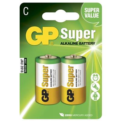 GP Super Alkaline C Batteri 2-Pack, 14A-U2